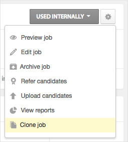 how do i copy clone an existing job workable support