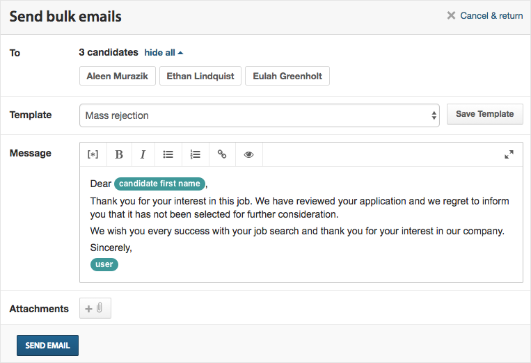 Sending Bulk Emails To Candidates Workable Support