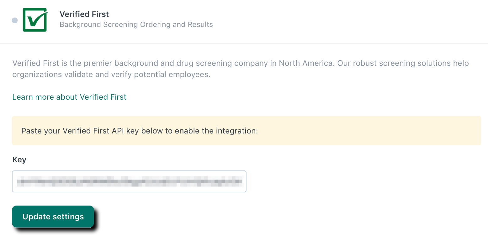 Integrating your Verified First account – Workable Support